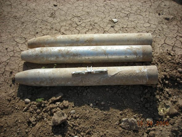 The C.I.A. is said to have bought and destroyed at least 400 Iraqi nerve-agent weapons like these Borak rockets, which were discovered separately. Credit U.S. Army