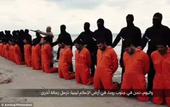 Brutal: The raid comes Isis murdered 21 Egyptian Coptic Christians in Libya