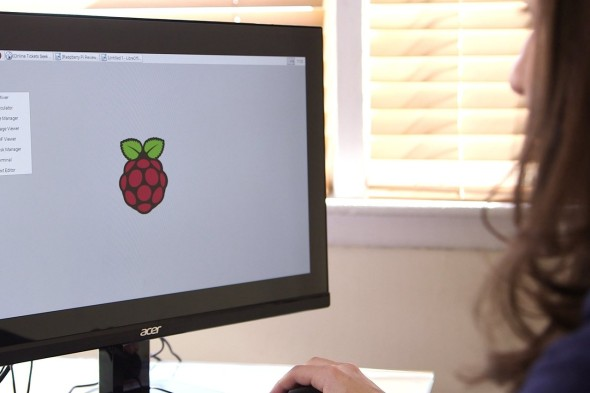 Raspbian provides a basic desktop and menu with access to programs and settings. PHOTO: DREW EVANS/THE WALL STREET JOURNAL