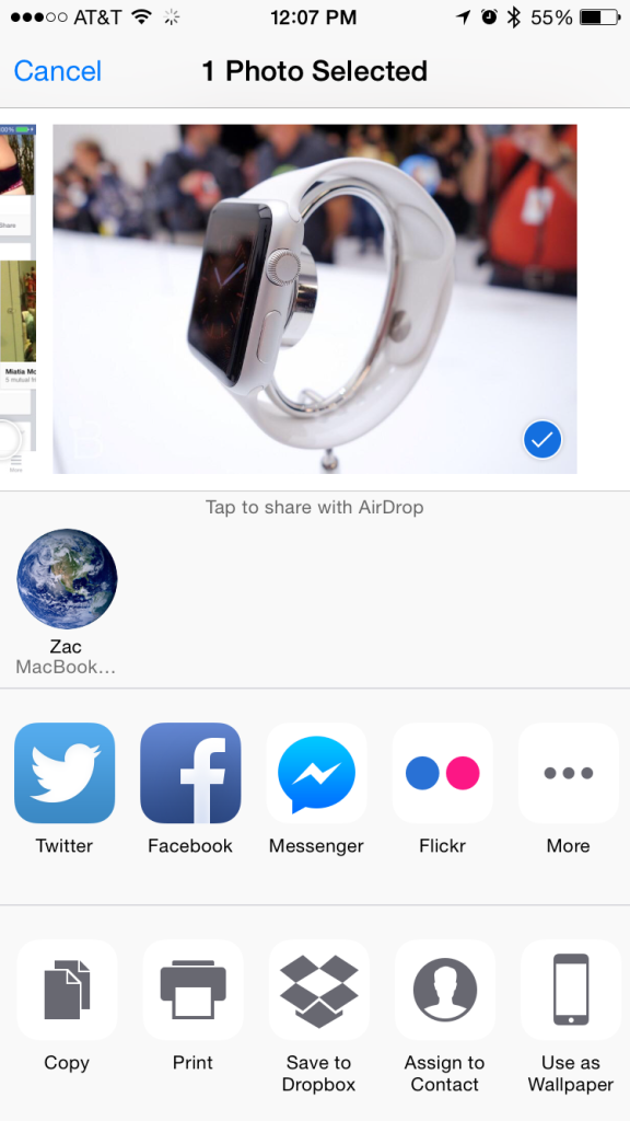 Facebook Messenger iOS 8