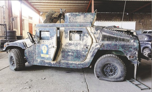 Auditors with the Government Accountability Office found that Humvees donated to the Yemeni Interior Ministry sat idle or broken because the Defense Ministry refused to share spare parts. (Government Accountability Office)