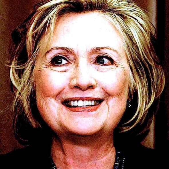 Hillary-grins