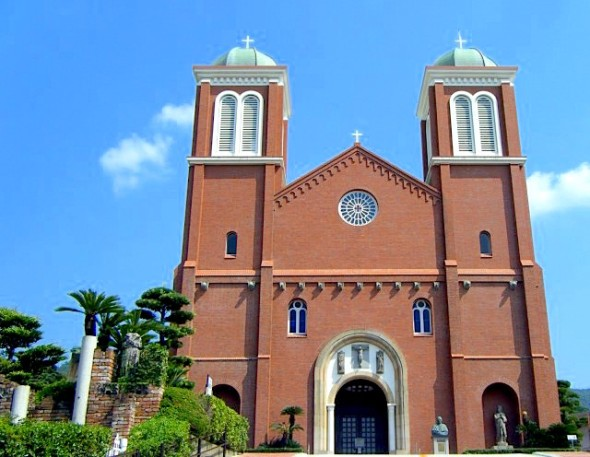 This Cathedral is the largest Catholic church in Japan. In that day,priests and all Catholics who were in Urakami Cathedral died.