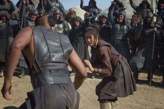 Uli Latukefu, left, and Claudia Kim in 'Marco Polo.' Netflix/Everett