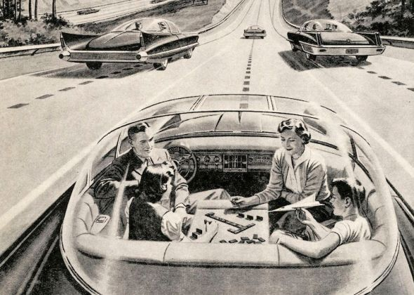 Family In Self-Driving Car