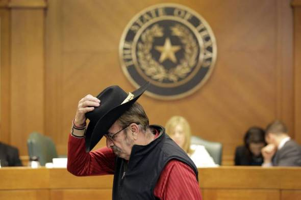 A man testifies at a February hearing in Austin, Texas, on gun rights. Photo: Eric Gay/Associated Press