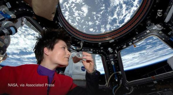 First Espresso in Space