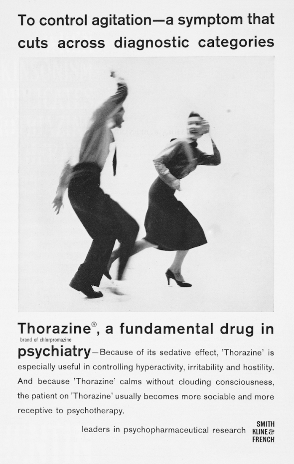 L0077037 Advert for the psychiatric drug Thorazine