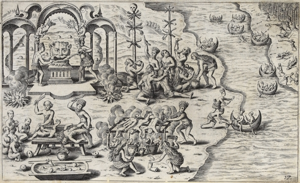 Devil_worship_and_cannibalism_in_South_America,_by_Caspar_Plautius,_1621