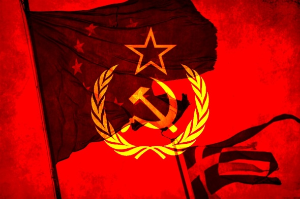 Greece-hammer-and-sickle-star-socialism,-communism
