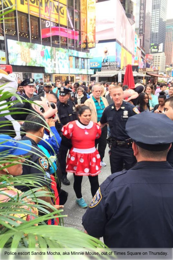 Jake Rullman ?@jakerullman  21h21 hours ago Minnie Mouse and Hello Kitty got arrested in Times Square. The mascots had to pull together and have a family meeting.