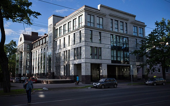 "The ""Internet Research Co"" building in St Petersburg (Dmitri Beliakov/The Telegraph)"