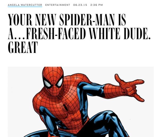 SpiderMan Angela Watercutter