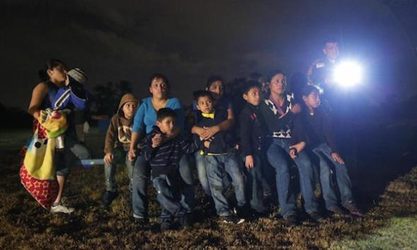 Illegal immigrants caught at the U.S.-Mexico border. AP Photo