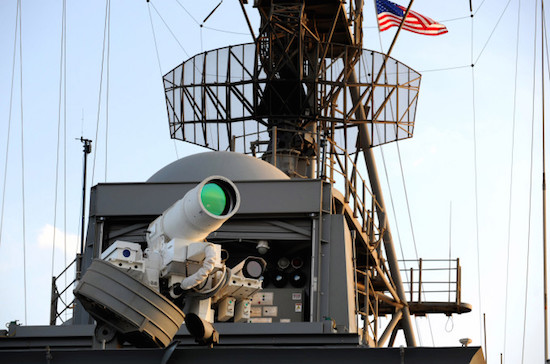 The 30-kilowatt Laser Weapon System was successful at Black Dart 2011.Photo: U.S. Navy