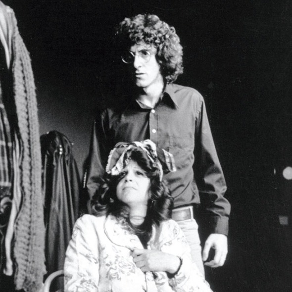 The National Lampoon Show  (New York City, 1974) Shown from left: John Belushi, Gilda Radner, Harold Ramis