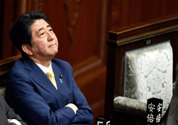 Prime Minister Shinzo Abe in Parliament on Thursday. He has championed legislation that would giving the Japanese military limited powers to fight overseas. Credit Franck Robichon/European Pressphoto Agency
