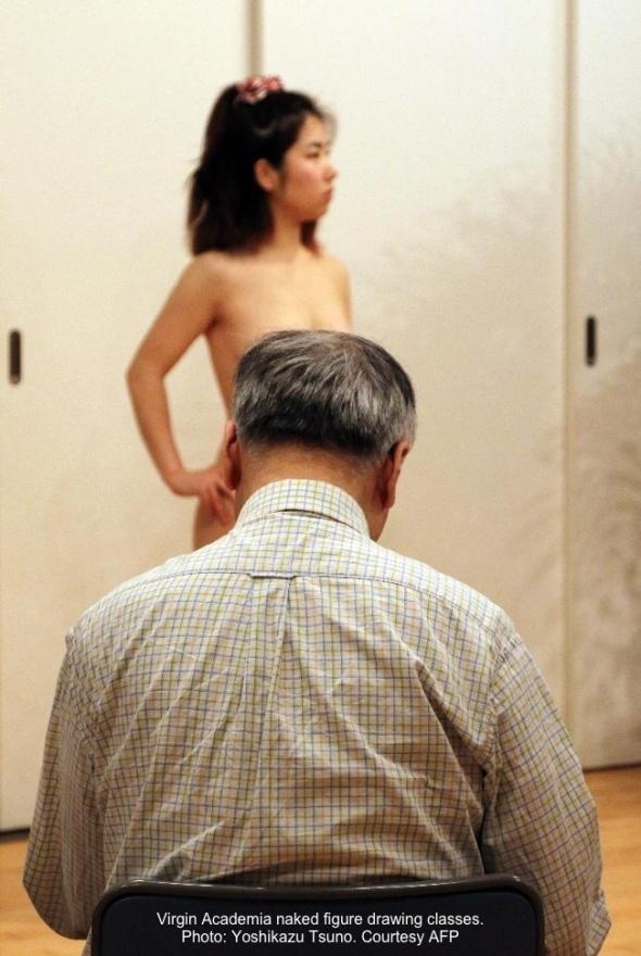 naked-figure-drawing-Virgin-Academia-Tsuno-AFP