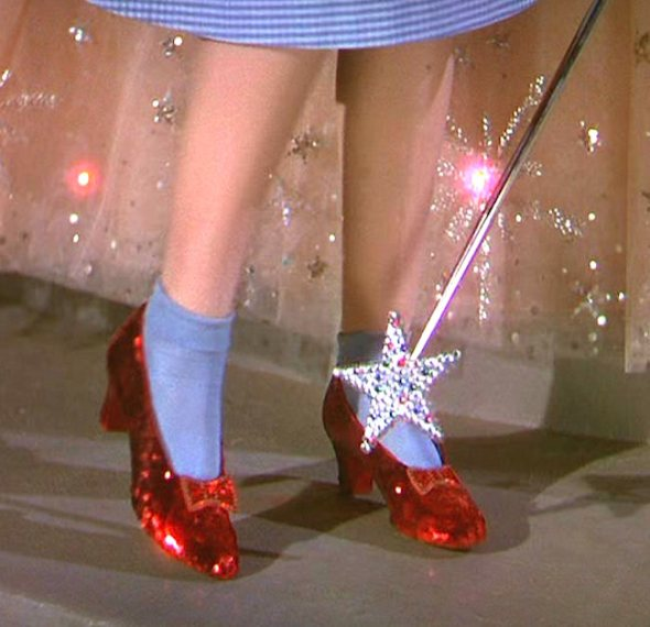 "Priceless Hollywood memorabilia including CHARLIE CHAPLIN's bowler hat, JUDY GARLAND's ruby slippers from THE WIZARD OF OZ, and a dress worn by MARILYN MONROE in the infamous ""flashing"" scene from THE SEVEN YEAR ITCH are to go up for auction this month (Jun11). Veteran actress Debbie Reynolds has built up an enormous collection of iconic artefacts worth millions of dollars and is selling the haul after plans to set up a movie museum fell through. Other incredible pieces in the auction are Audrey Hepburn's frock from My Fair Lady - which is expected to fetch up to 00,000 (£187,500) - the sweater worn by Julie Andrews in The Sound of Music (0,000/£37,500), and Cleopatra's crown famously sported by Elizabeth Taylor in the 1963 epic. Monroe's shimmering, red sequined dress from Gentleman Prefer Blondes is expected to raise up to 00,000 (£187,500), Barbra Streisand's Hello, Dolly! gown is valued at 0,000 (£50,000), Chaplin's hat is worth 0,000 (£18,750), and the ruby slippers are 50,000 (£93,750). But the star attraction of the sale is the white pleated frock worn by Monroe in the iconic New York ""subway"" scene in The Seven Year Itch - it's expected to sell for a cool  million (£1.25 million). The auction will be held in Beverly Hills on 18 June (11). (ZN/WN)  The Wizard of Oz (1939) Directed by Victor Fleming Shown: Judy Garland (as Dorothy Gale), wearing the ruby slippers This is a PR photo. WENN does not claim any Copyright or License in the attached material. Fees charged by WENN are for WENN's services only, and do not, nor are they intended to, convey to the user any ownership of Copyright or License in the material. By publishing this material, the user expressly agrees to indemnify and to hold WENN harmless from any claims, demands, or causes of action arising out of or connected in any way with user's publication of the material. Supplied by WENN.com  When: 13 May 1939 Credit: WENN"