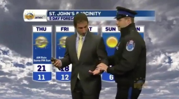 weatherman-arrested