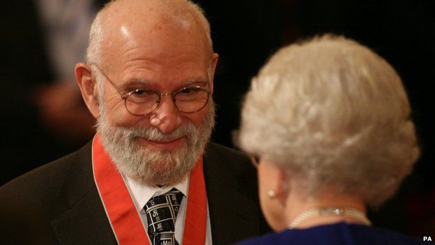 Image caption Dr Sacks received a CBE from the Queen in October 2008