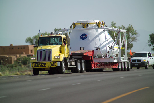 Orion Command Module Pad Abort (PA-1) Test Article Transport From Holloman Air Force Base to White Sands Missile Range.