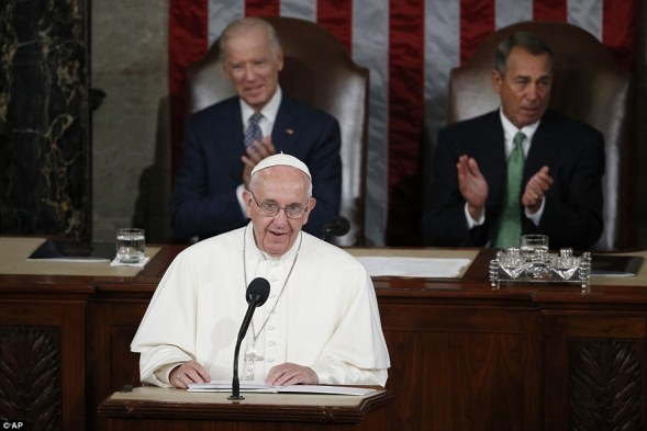 Pope Francis on Thursday morning became the first-ever pontiff to address the US Congress