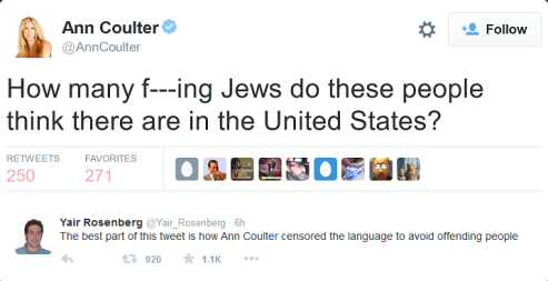 ann-coulters-tweet-branded-anti-semitic