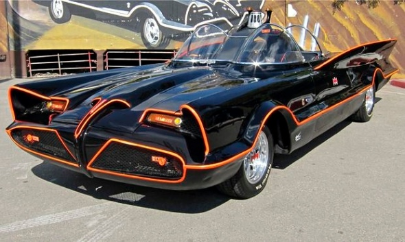 The original Batmobile from the 1960s TV series. Photograph: Barrett-Jackson/AP