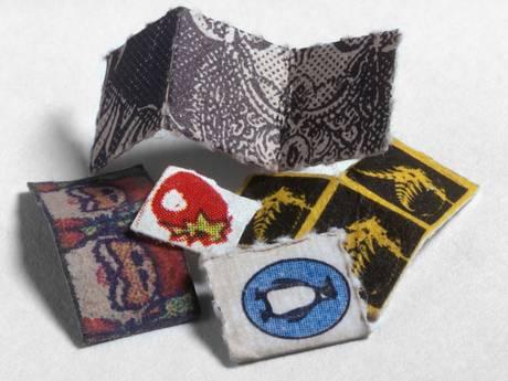 LSD-infused tabs of blotting paper