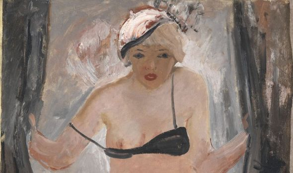 """Aleksandr Deineka's oil """"Behind the Curtain,"""" 1933. Estimate: £2–3 million ($3.1–4.6 million million). (MacDougall's )"""