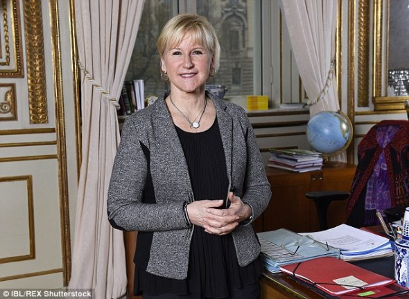 Margot Wallstrom, pictured, has said that Sweden cannot cope with taking in refugees at its current level, without it affecting services
