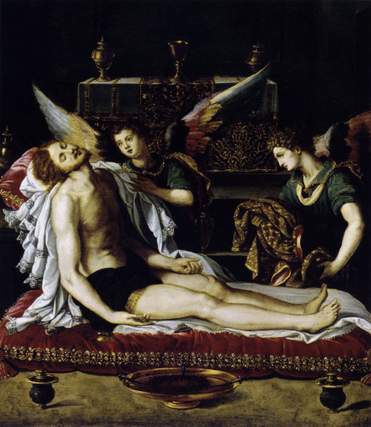 Body of Christ with Two Angels