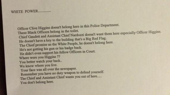 Authorities Investigate Racist Letter at Bridgeport PD