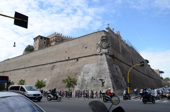 The wall around the Vatican
