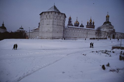 The wall around the Holy Trinity-St. Sergius monastery in Russia