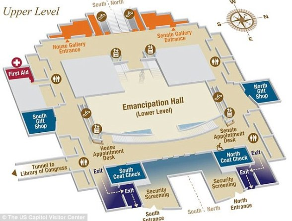 This is a map of the visitor's center where the shooting took place