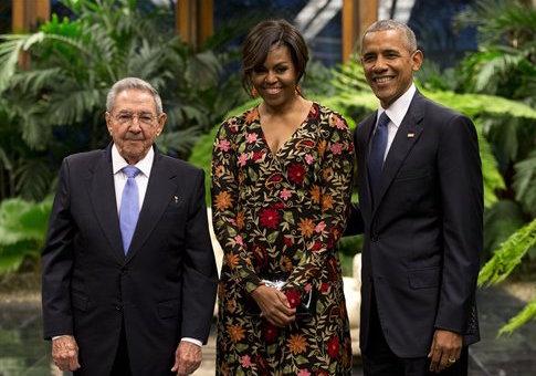 Raul Castro, Michelle Obama, Barack Obama