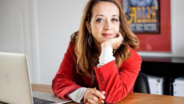 Ebru Umar, the Dutch writer with a Turkish background who was arrested in Turkey on Sunday.