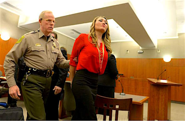 (Leah Hogsten | The Salt Lake Tribune) Brianne Altice, 35, was taken into custody and ordered to stand trial in 2nd District Court after Judge John R. Morris refused to set bail, Thursday, January 15, 2015. Altice, is facing a total of 14 felony charges for allegedly having sexual relationships with three male students: five counts of first-degree felony rape, two counts of first-degree felony forcible sodomy, three counts of second-degree felony forcible sexual abuse, along with three counts of unlawful sexual activity with a minor and one count of dealing harmful material to a minor, all third-degree felonies.