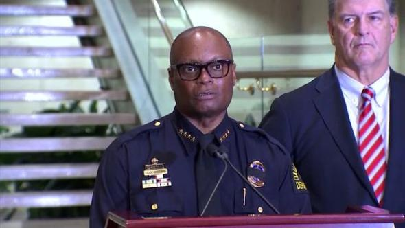 Dallas Police Chief, Mayor 12:30 A.M. Update (Raw Video)