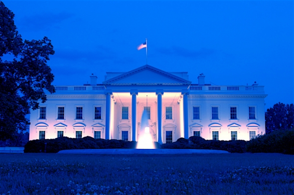 White_House_Front_Dusk_BLUE