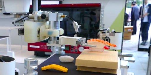 Kawasaki's sushi-making robot. Kazumichi Moriyama/YouTube