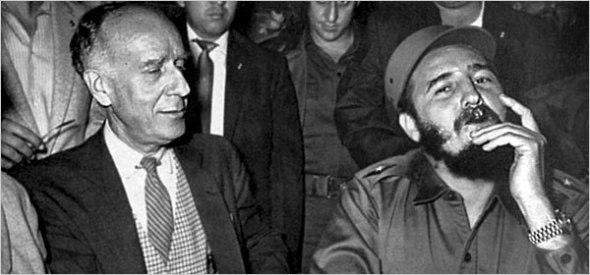 New York Times reporter Herbert Lionel Matthews with Fidel Castro