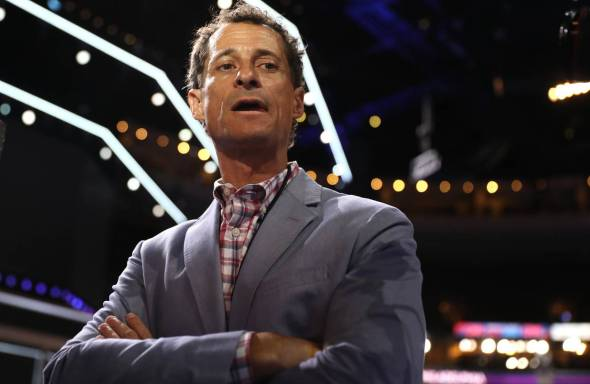 Anthony Weiner at the Democratic National Convention in July Photo: Joe Raedle/Getty Images