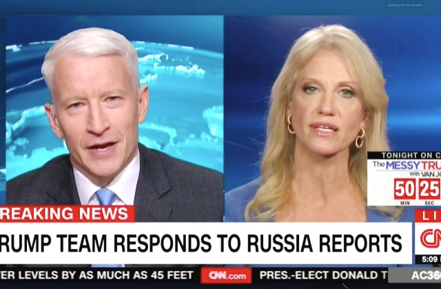 [VIDEO] 'You Guys Are Feeling the Heat!': Anderson Cooper, Kellyanne Conway Battle Over CNN Intel Report — pundit from another planet