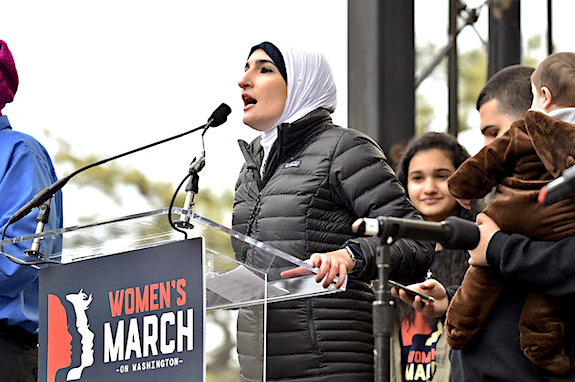 attends the Women's March on Washington on January 21, 2017 in Washington, DC.