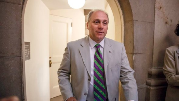 Rep. Steve Scalise, R-La., did not deliver a speech to a white supremacist group. Instead, he attended a separate, fiscal policy event in the same hotel. (AP Photo/J. Scott Applewhite)