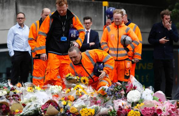 At the site of the London Bridge attacks, June 5. Photo: Agence France-Presse/Getty Images