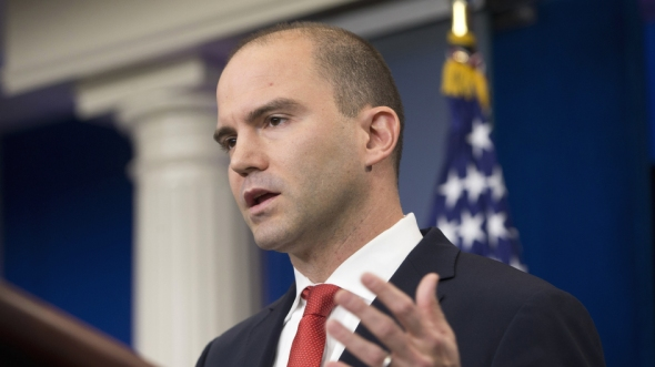 Pablo Martinez Monsivais/AP FILE - In this Feb. 16, 2016 file photo Deputy National Security Adviser For Strategic Communications Ben Rhodes speaks in the Brady Press Briefing Room of the White House in Washington. (AP Photo/Pablo Martinez Monsivais, File)